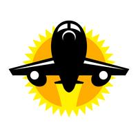 Icona di vettore di volo dell'aeroplano