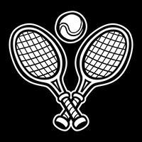 Racchetta da tennis e pallina da tennis vettore