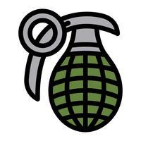 Illustrazione vettoriale di bomba a mano