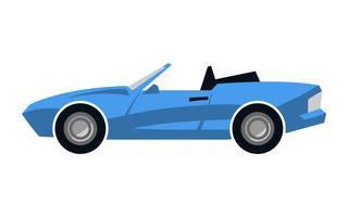 Auto sportiva convertibile stilizzata vettore
