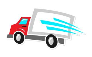 Camion delle consegne vettore
