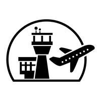 Icona di vettore dell'aeroporto