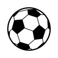 Icona di vettore di pallone da calcio