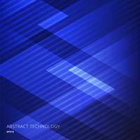 Fondo blu dei triangoli geometrici eleganti astratti con il modello di linee diagonali.