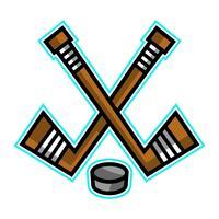 Disegno vettoriale di Hockey Stick & Puck Disegno vettoriale di Hockey Stick & Puck