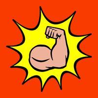 Forte icona del braccio del bicipite Flex Bodybuilder vettore