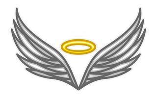 Ali d'angelo vettore