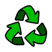 Icona delle frecce di riciclo vettore