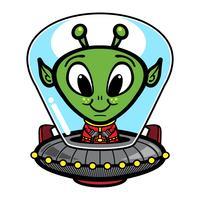 Illustrazione vettoriale di testa aliena
