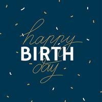 Buon compleanno semplice tipografia