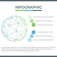 Infografica di affari Diagramma di infographics con la linea astratta geometrica. modello per la presentazione. vettore
