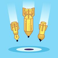 Illustrazione di icona di sviluppo creativo di arte. vettore