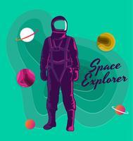 Esploratore spaziale vettore
