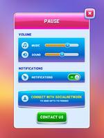 Interfaccia di gioco. Mettere in pausa la schermata del menu vettore