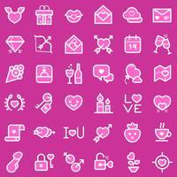 Set di icone di San Valentino vettore