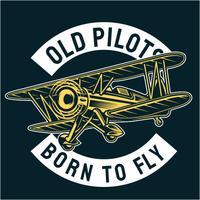 Vecchio pilota vettore