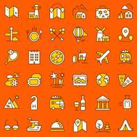 Set di icone di viaggio.