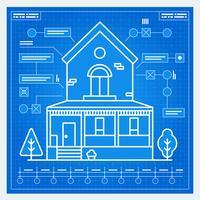Progetto di casa vettore