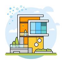 Illustrazione vettoriale della casa moderna.