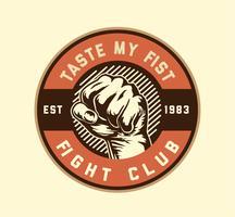 combattere il pugno del club