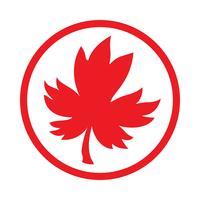 Logo vettoriale foglia d'acero autunno