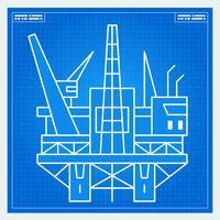 Schema di impianto di perforazione piattaforma petrolifera