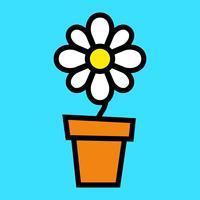 Fiore dei cartoni animati vettore