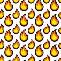 Fumetto di vettore di fiamma calda fiamma