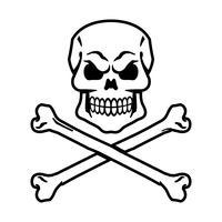 Grafica del cranio vettore