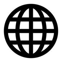 Grafico del pianeta terra globo vettore