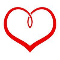 Cuore romantico amore grafico vettore