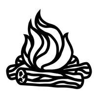 fuoco di bivacco vettore