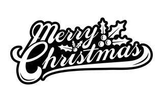 Buon Natale testo carattere grafico vettore