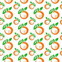Illustrazione di frutta arancione vettore