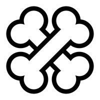 Icona di vettore dell'osso