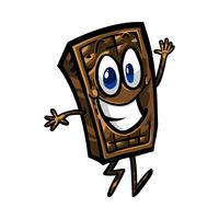 cartone animato di cioccolato