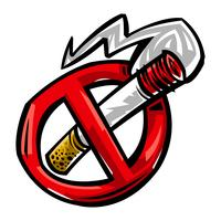 Illustrazione di vettore di fumo di sigaretta
