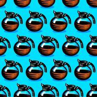 Illustrazione del fumetto della bevanda calda della caffettiera