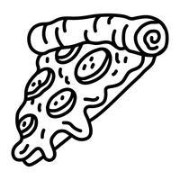Icona di vettore di Pizza Slice