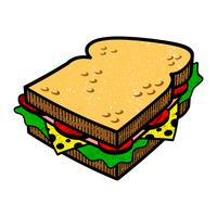 Illlustration di vettore del fumetto del panino