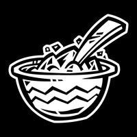 Icona di vettore di ciotola di cereali