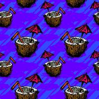Illustrazione tropicale della bevanda della noce di cocco vettore