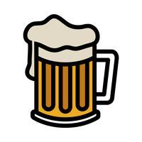 Icona di vettore di boccale di birra