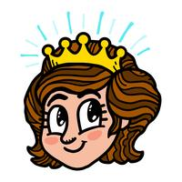 Principessa dei cartoni animati vettore