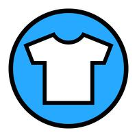 T-shirt modello vettoriale