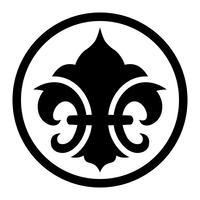 Simbolo di Fleur de lis vettore