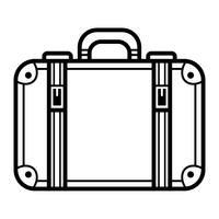 Icona di vettore di valigia di viaggio