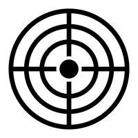 Icona di vettore di destinazione
