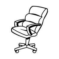 Illustrazione vettoriale di sedia da ufficio