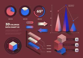 Insieme moderno di vettore degli elementi di Infographic 3D